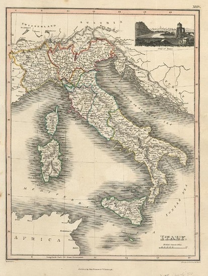 36-Europe, Italy, Mediterranean and Balearic Islands Map By John Thomson