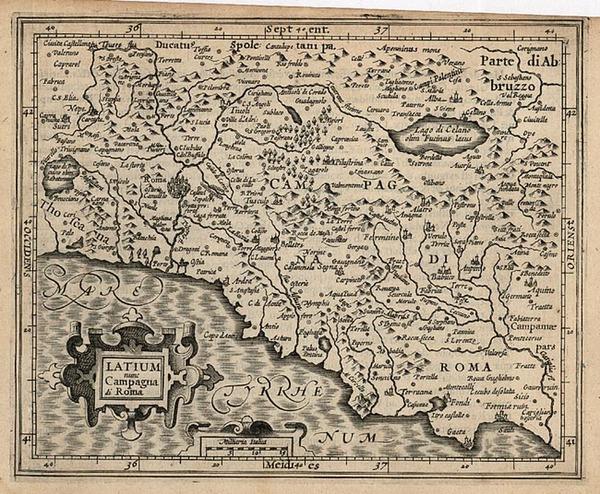 31-Europe and Italy Map By Jodocus Hondius - Michael Mercator