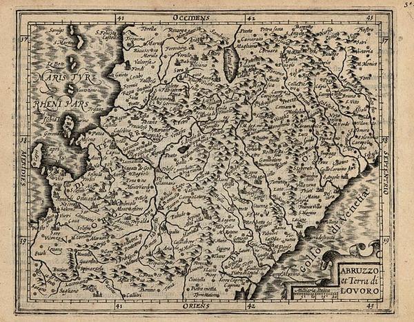 71-Europe and Italy Map By Jodocus Hondius - Michael Mercator