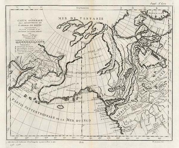 97-Alaska Map By Denis Diderot  &  Gilles Robert de Vaugondy