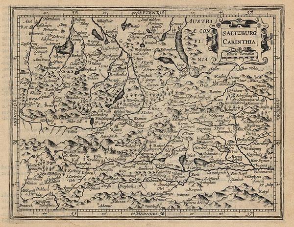 18-Europe and Austria Map By Jodocus Hondius - Michael Mercator