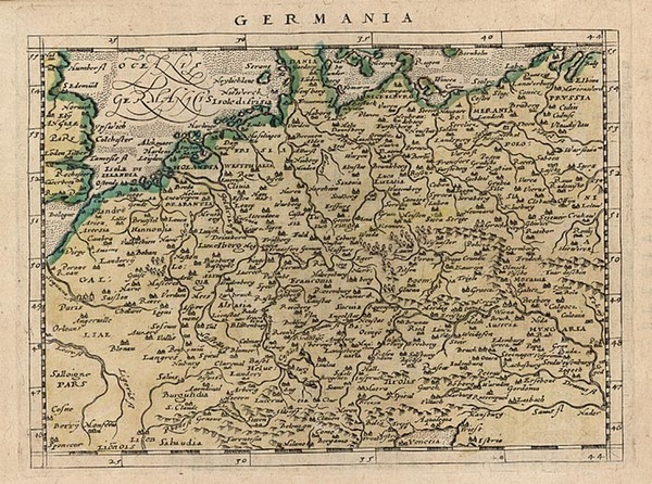 58-Europe, Netherlands, Germany and Baltic Countries Map By Giovanni Antonio Magini
