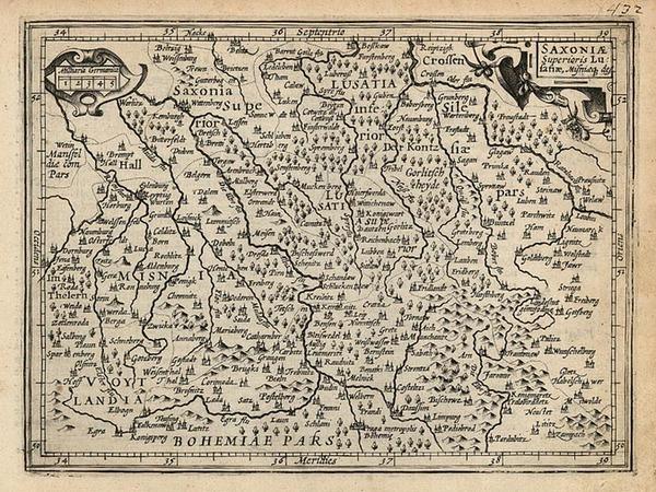 47-Europe and Germany Map By Jodocus Hondius - Michael Mercator