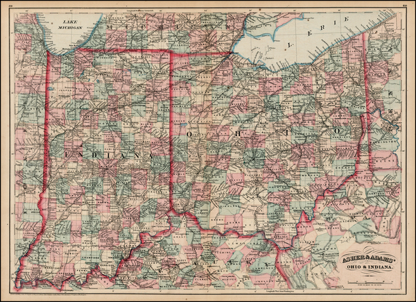 14-Midwest Map By Asher  &  Adams
