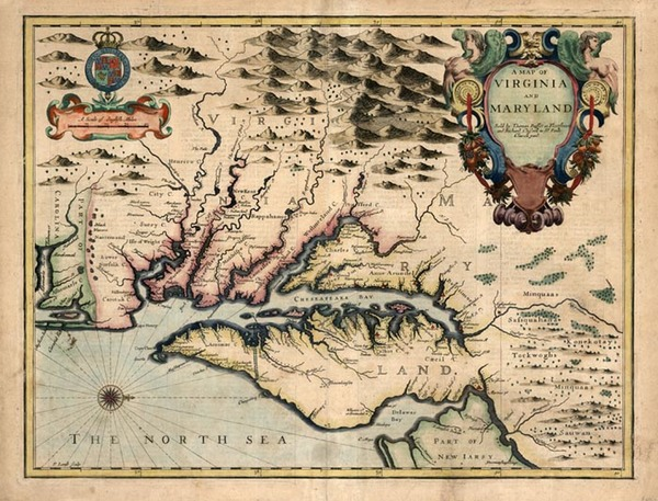 15-Mid-Atlantic and Southeast Map By John Speed