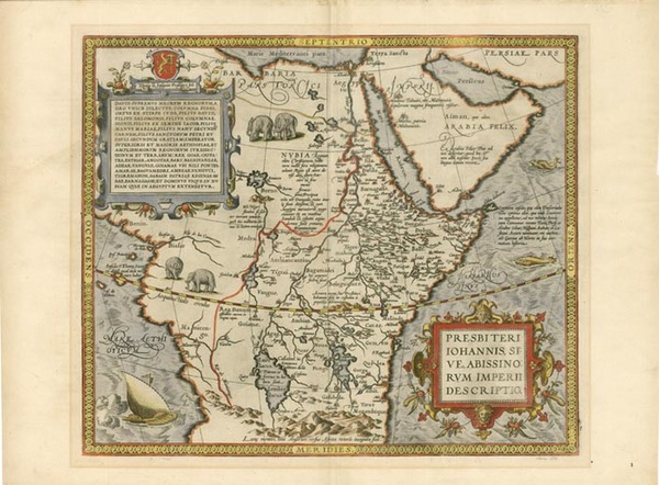 76-Africa, Africa, North Africa, East Africa and West Africa Map By Abraham Ortelius