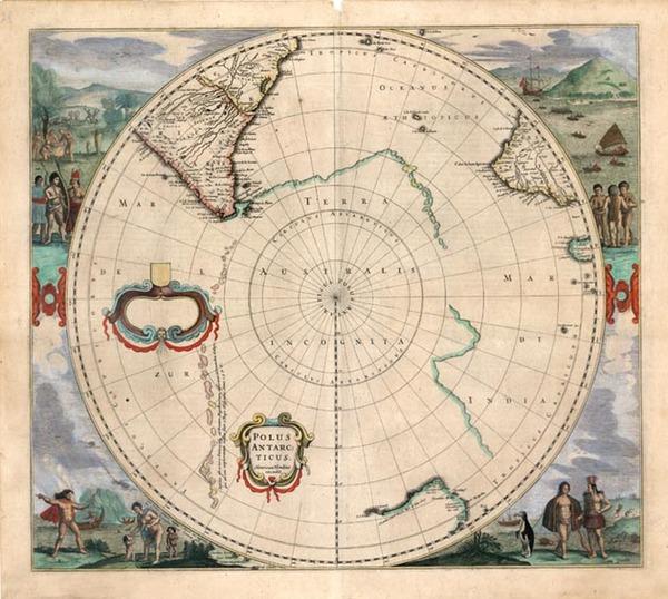 8-World, Polar Maps, Australia & Oceania, Pacific, Australia and New Zealand Map By Henricus
