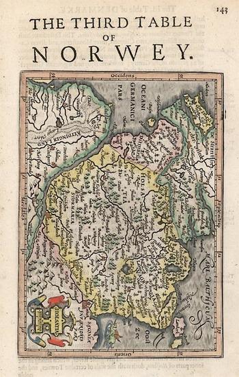 95-Europe, Germany and Scandinavia Map By Henricus Hondius - Gerhard Mercator