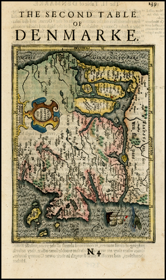 50-Scandinavia and Denmark Map By Henricus Hondius - Gerhard Mercator