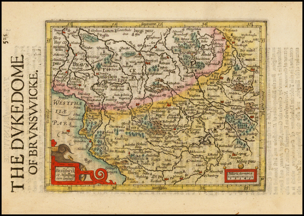 12-Germany Map By Henricus Hondius - Gerhard Mercator