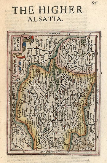 22-Europe, Switzerland, France and Germany Map By Henricus Hondius - Gerhard Mercator