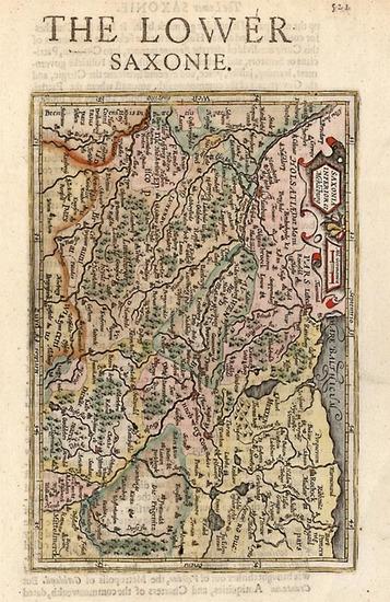 60-Europe and Germany Map By Henricus Hondius - Gerhard Mercator