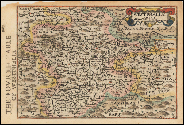 33-Germany Map By Henricus Hondius - Gerhard Mercator