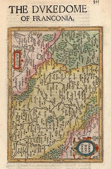 61-Europe and Germany Map By Henricus Hondius - Gerhard Mercator