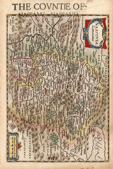 40-Germany Map By Henricus Hondius - Gerhard Mercator