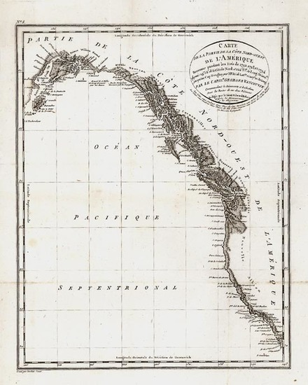 93-Alaska, Canada and California Map By George Vancouver