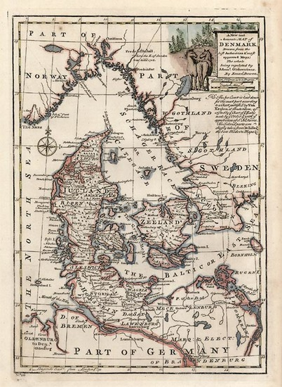 74-Europe and Scandinavia Map By Emanuel Bowen