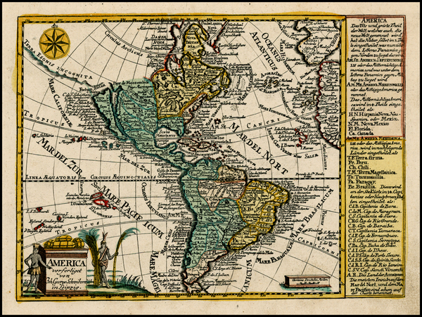 51-South America and America Map By Johann George Schreiber