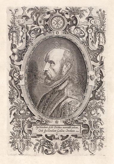 38-Portraits & People Map By Abraham Ortelius