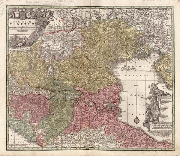 38-Europe, France and Italy Map By Matthaus Seutter