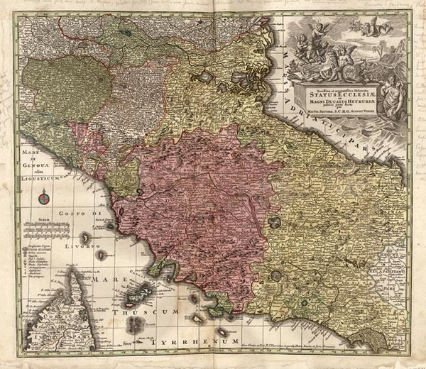 80-Europe, France and Italy Map By Matthaus Seutter