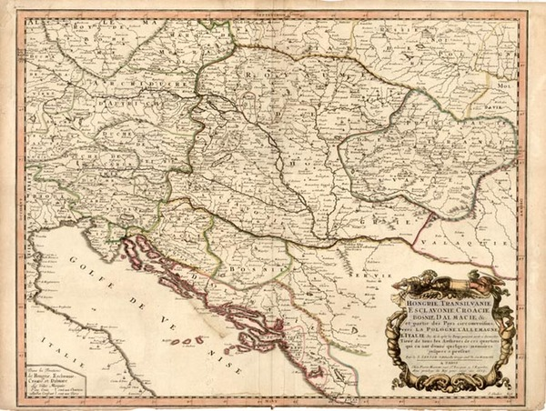 81-Austria, Hungary and Balkans Map By Nicolas Sanson
