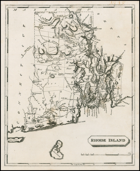 53-New England and Rhode Island Map By Aaron Arrowsmith  &  Samuel Lewis