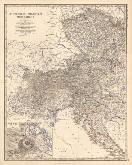 39-Europe, Austria, Hungary, Czech Republic & Slovakia and Balkans Map By W. & A.K. Johnst
