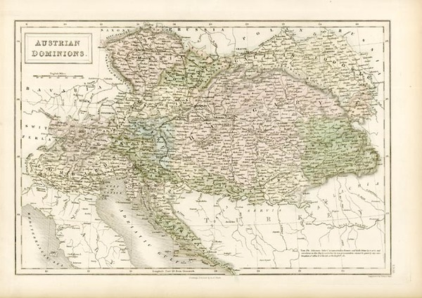3-Europe, Austria, Hungary and Balkans Map By Adam & Charles Black