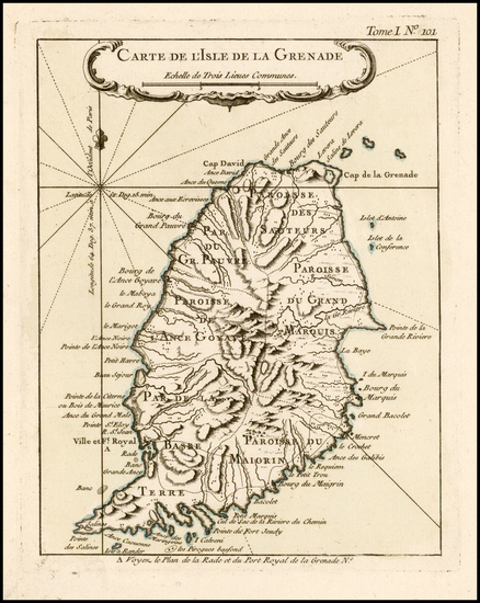 61-Other Islands Map By Jacques Nicolas Bellin