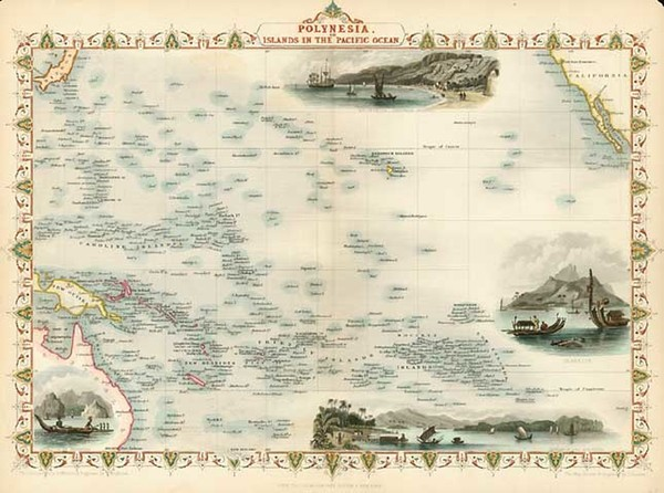 38-World, Australia & Oceania, Pacific, Oceania, Hawaii and Other Pacific Islands Map By John
