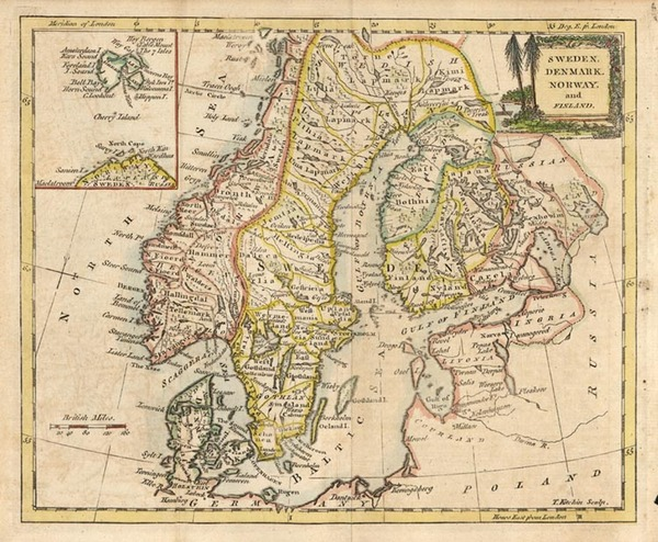 18-Europe and Scandinavia Map By Thomas Kitchin