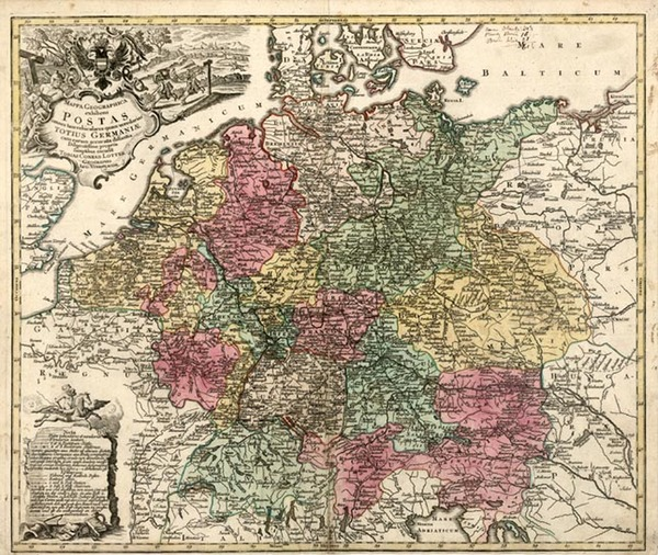 90-Europe, Netherlands, Germany, Austria and Baltic Countries Map By Tobias Conrad Lotter