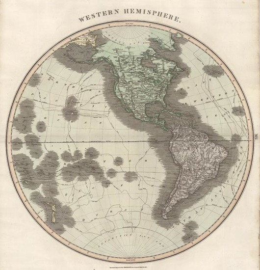 26-World, Western Hemisphere, South America, Pacific and America Map By John Thomson