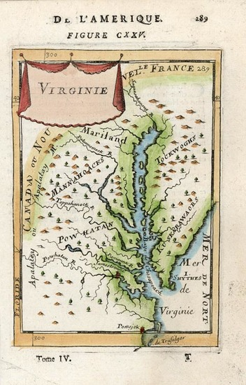 82-Mid-Atlantic and Southeast Map By Alain Manesson Mallet