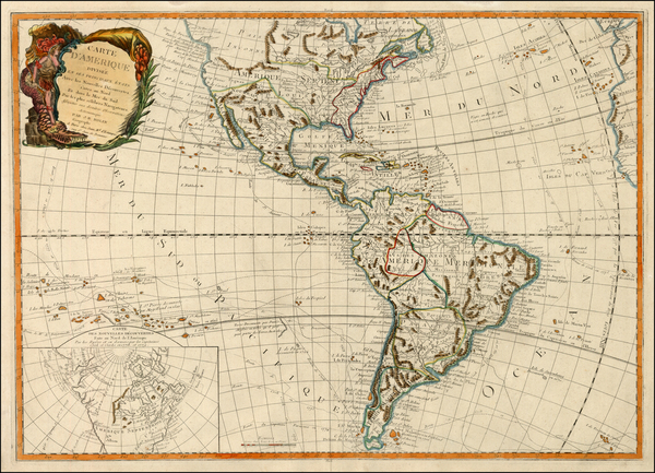 40-South America, Oceania, Other Pacific Islands and America Map By Jean-Baptiste Nolin