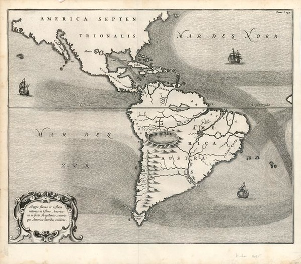 24-South America and America Map By Athanasius Kircher