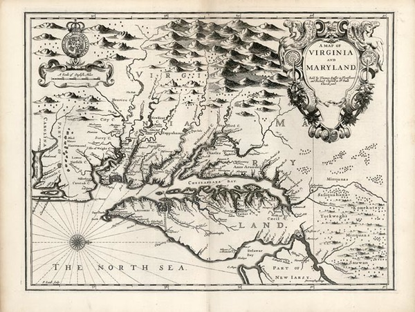 89-Mid-Atlantic and Southeast Map By John Speed