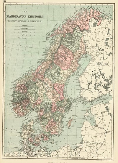 86-Europe and Scandinavia Map By J. David Williams