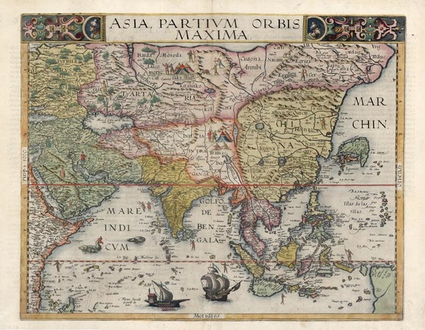 85-Asia, Asia, China, Southeast Asia, Australia & Oceania and Oceania Map By Gerard de Jode