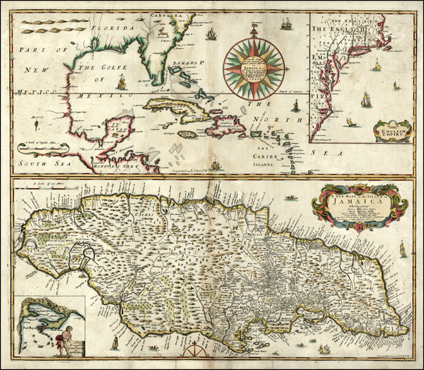 96-Mid-Atlantic, Southeast and Caribbean Map By Philip Lea