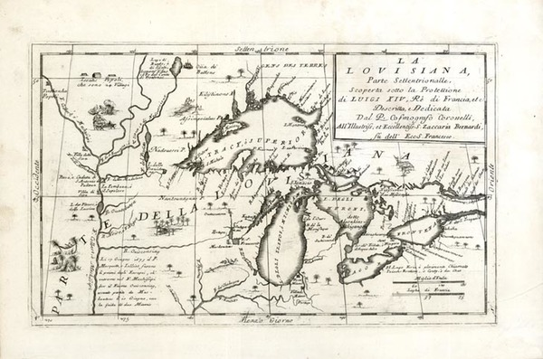 23-Midwest and Canada Map By Vincenzo Maria Coronelli