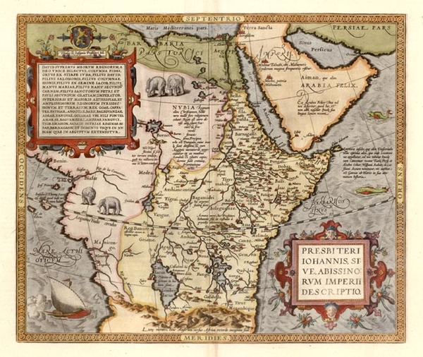 12-Africa, Africa, North Africa, East Africa and West Africa Map By Abraham Ortelius