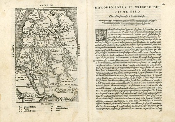 92-Asia, Middle East, Africa, Africa and North Africa Map By Giovanni Battista Ramusio