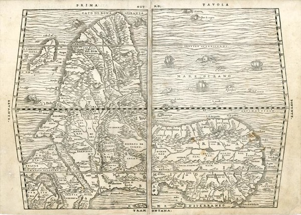 39-Africa and Africa Map By Giovanni Battista Ramusio