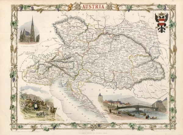 27-Europe and Austria Map By John Tallis