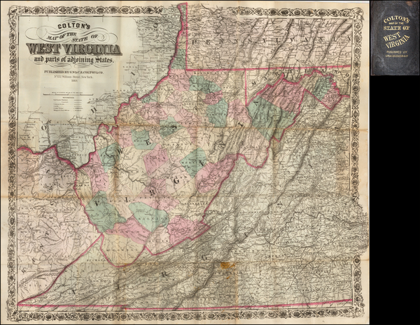 50-Mid-Atlantic, West Virginia and Midwest Map By G.W.  & C.B. Colton