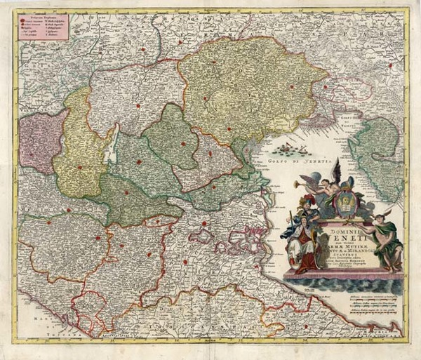 93-Europe, Balkans and Italy Map By Johann Baptist Homann