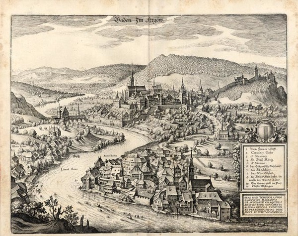 75-Europe and Germany Map By Matthaus Merian