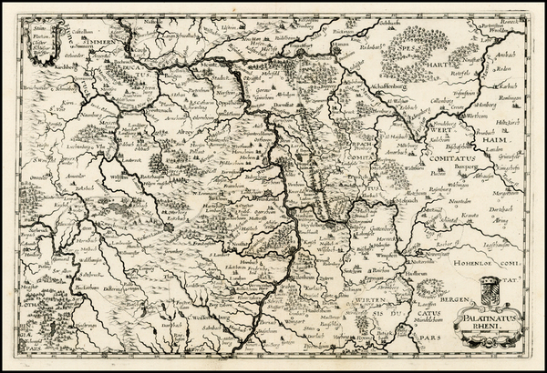 99-Europe and Germany Map By Matthaus Merian